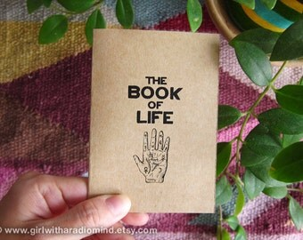 Palm Notebook 49. Book of Life - Your Essential Traveling Mini Pocket Notebook - Psychic Palm Reading