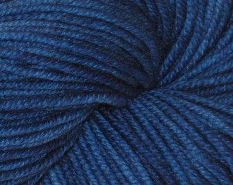 Blue OOAk 100% Superwash Merino DK Yarn