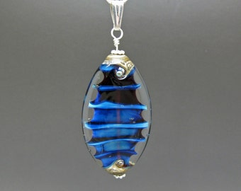 Blue Blue Blue - Lampwork Pendant