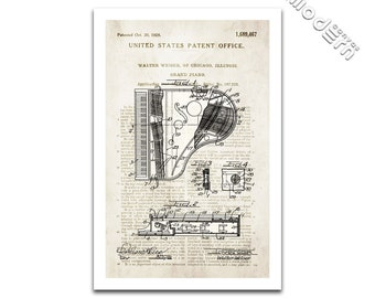 Grand Piano Patent Art Giclee on archival matte paper