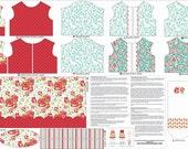 DIY Doll Clothes, Fabric Panel, Primrose Garden by Riley Blake