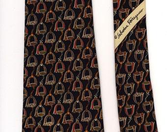 Equestrian Ferragamo Necktie black