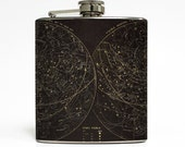 Astronomy Whiskey Flask Cognitive Surplus Stars Solar System Galaxy Science Men Birthday Gift Stainless Steel 6 oz Liquor Hip Flask LC-1498