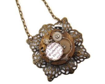 Steampunk Wuthering Heights Vintage Watch Movement Necklace - CATHY'S TIMEPIECE Ed1 to 4 - Ltd Ed of 2 left Etsy Uk