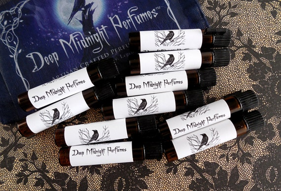 Artisan Perfume Oil SAMPLE Set of 10: Your Choices by Deep Midnight Perfumes
