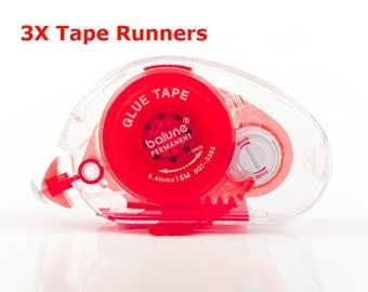 50' length - 3 tape runners - total 150' long-Double sided adhesive tape - Tape Runner -supplies - gift wrapping - Love My Tapes -