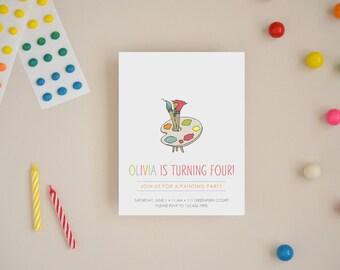 Paint Party Invitations - Choose Your Colors