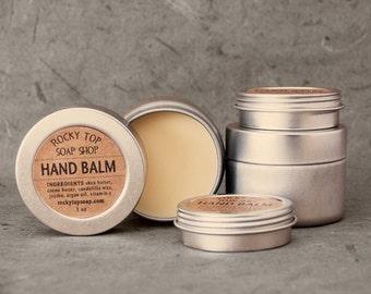 Hand Balm - Unscented Hand  Balm, Vegan Vegan Balm, Winter Skin Balm, Dry Skin Balm, Moisturizing Hand Balm