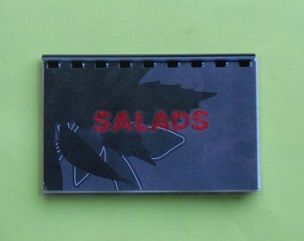 "Handmade ""Salads"" Blank Recipe Book"