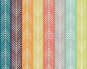 Organic KNIT- Serengeti - Quill Stripe Multi