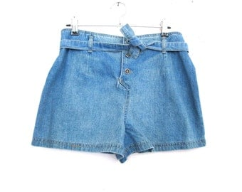 90's Tie Up  High Rise Denim Shorts size - S/M