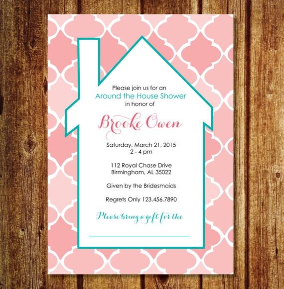 Around the house shower invitation custom wedding around the like this item filmwisefo