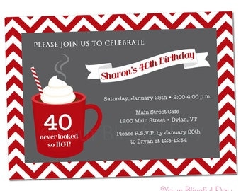 PRINTABLE Hot Chocolate Party Invitations #109