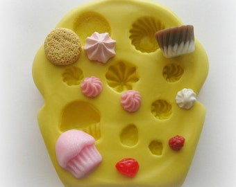 DIY Cupcake TINY Miniature Sweets Mold Cookie Frosting DIY Clay Mold
