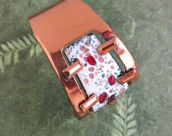 Matisse Copper Cuff Bracelet - Vintage Enameled