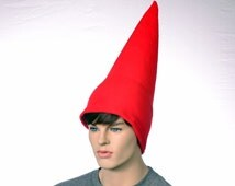 Red Gnome Hat Extra Tall Cap Fleece Men Women Tall Pointed Gnome Costume Cap Party Hat