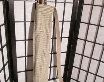 More Medieval back Archery Quiver In  Green Plaid Stripes