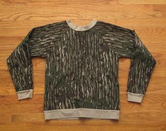 mens vintage real tree camo sweatshirt