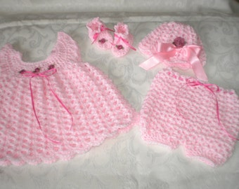 All Pink 0 to 3 Months 4 Piece Set