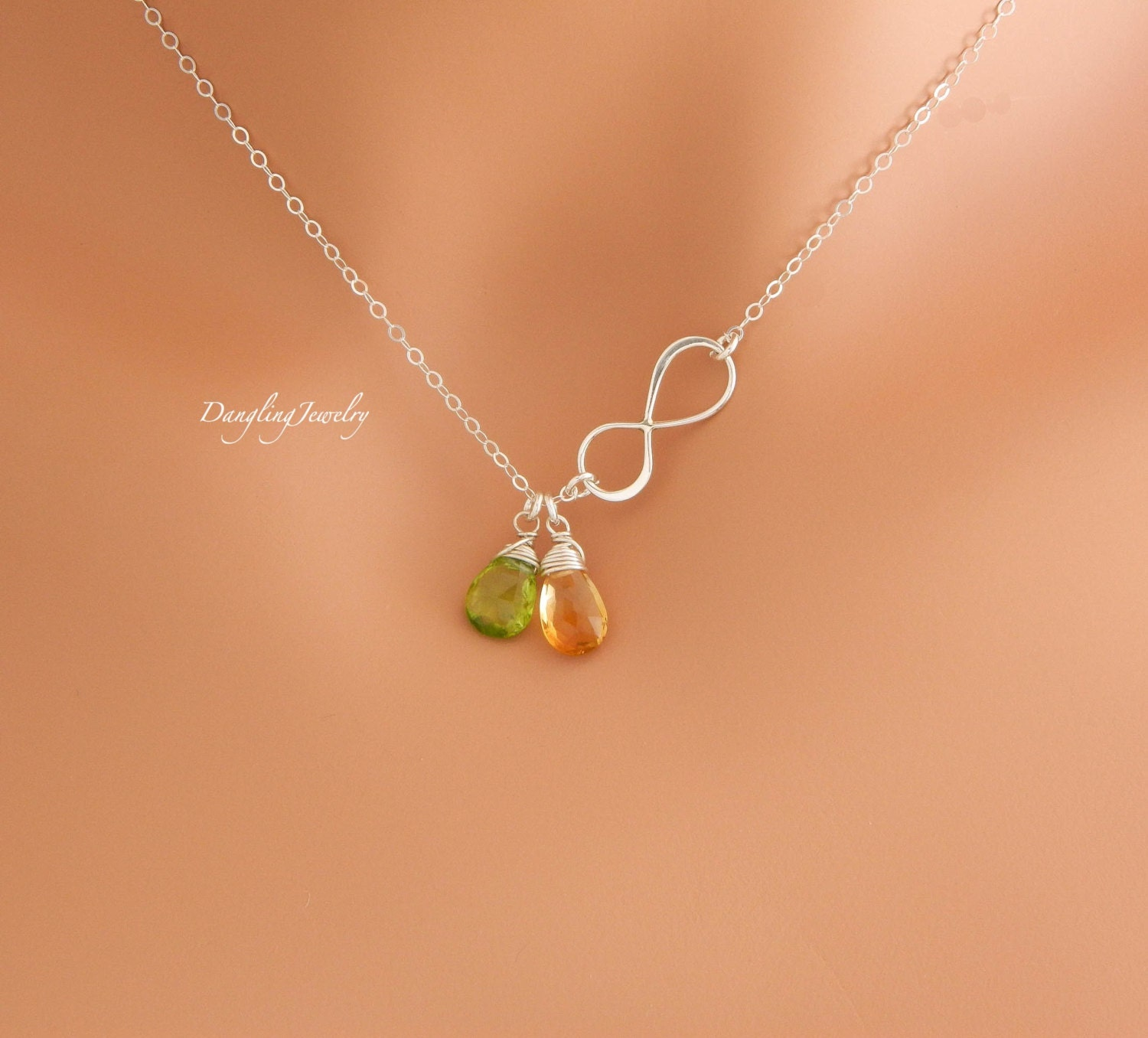 birthstone jewelry for personalized two birthstone necklace children birthstone 6293