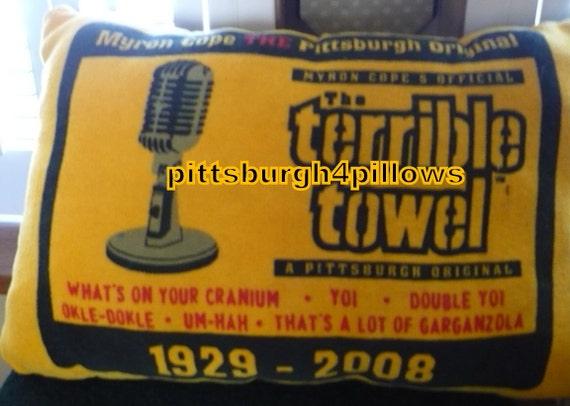 Steelers Football Myron Cope S Terrible Towel Pillow