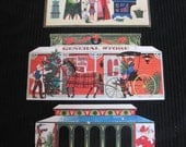 Lot of Vintage Antique Die Cut Greeting Card Covers - Circa 1940s - Christmas