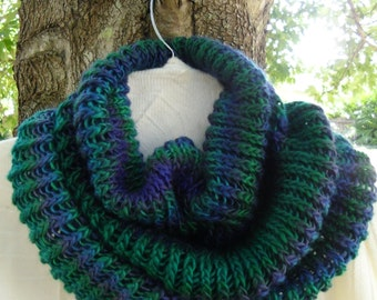 Soft and Cozy knit  - cowl-  scarf - neck warmer - in Dragonfly Unforgettable Yarn