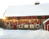 Live Laugh Love Barn Print