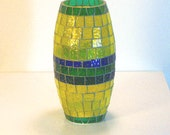 Stained Glass Mosaic Home Decor Table Top Centerpiece Glass Art Vase