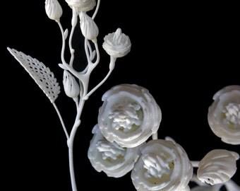 Fiore Settimo - 3d Printed Filigree Flower by Joshua Harker