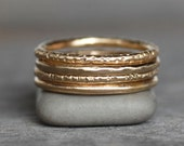14k Gold Wedding Band - Classic Gold Band - Choose Your Texture - Eco-Friendly Recycled Gold