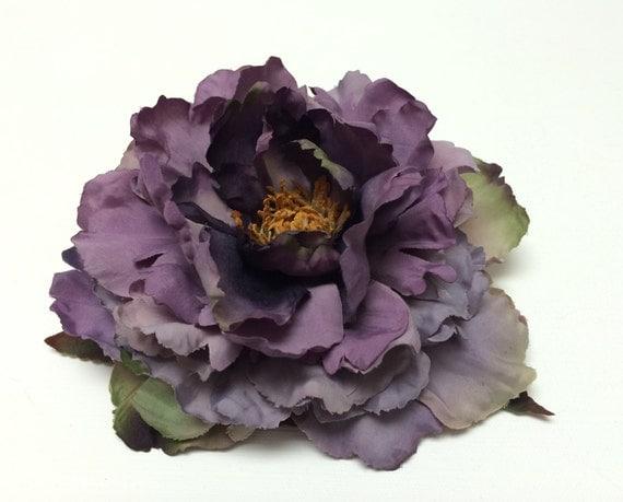 Jumbo Purple Peony - Artificial Flowers, Silk Flower, Wedding Flowers, Flower Crown, Wreath, Millinery