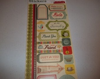 """Early Bird Cardstock Stickers by Cosmo Cricket 5.5"""" x 13"""" sheet"""