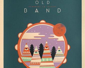 Screenprint Rock poster The Same Old Band