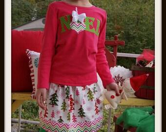 Noel Tree Set - Infant Toddler Youth Girl Sizes - Christmas Clothing for Girls