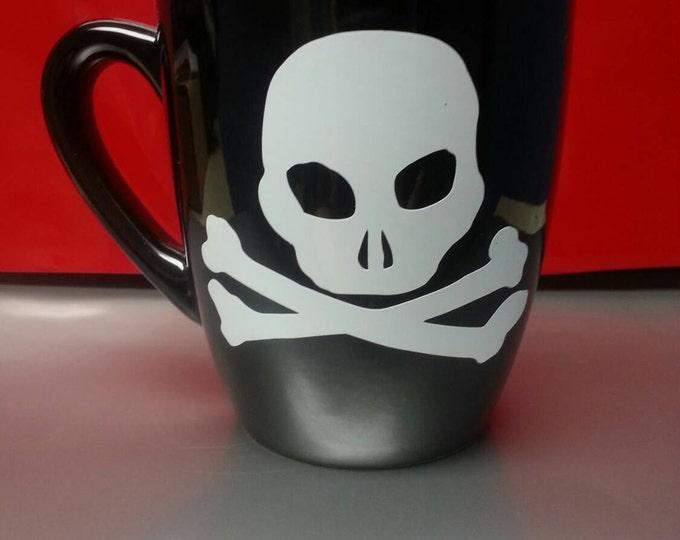Skull Cross and Bones Coffee or Tea Mug