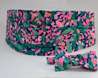 Lilly Cummerbund & Bow Tie (custom order) in bright navy loves me