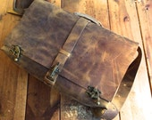 Broome Messenger / Rugged Leather Messenger / Handmade Leather Messenger Bag / Vintaged Leather Satchel /  Custom Made Leather Bags handsewn