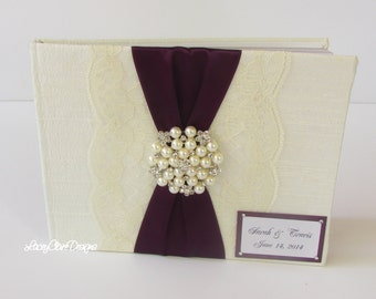 Guest Book Wedding Keepsake Book Custom Made