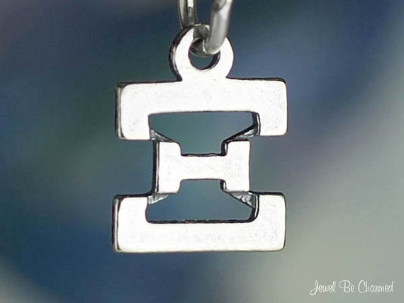 Small Xi Charm Sterling Silver Greek Letter Fraternity Sorority .925