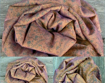 Scarf Beautiful Sari Scarf Versatile Upcycled VINTAGE Sari - floral brown - autumn winter accessories
