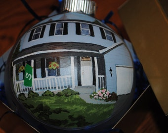 Hand Painted Home Ornament done from picture great House Warming Gift - sold