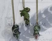 Magic Dragonian bottle Swamp potion necklace