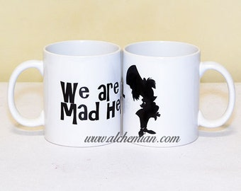 We're All Mad Here - Mad Hatter Silhouette, mug