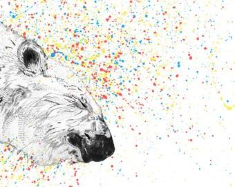 Polar Bear // A5 print 5x8