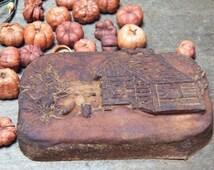 prim log cabin soap primitive soap grubby soap