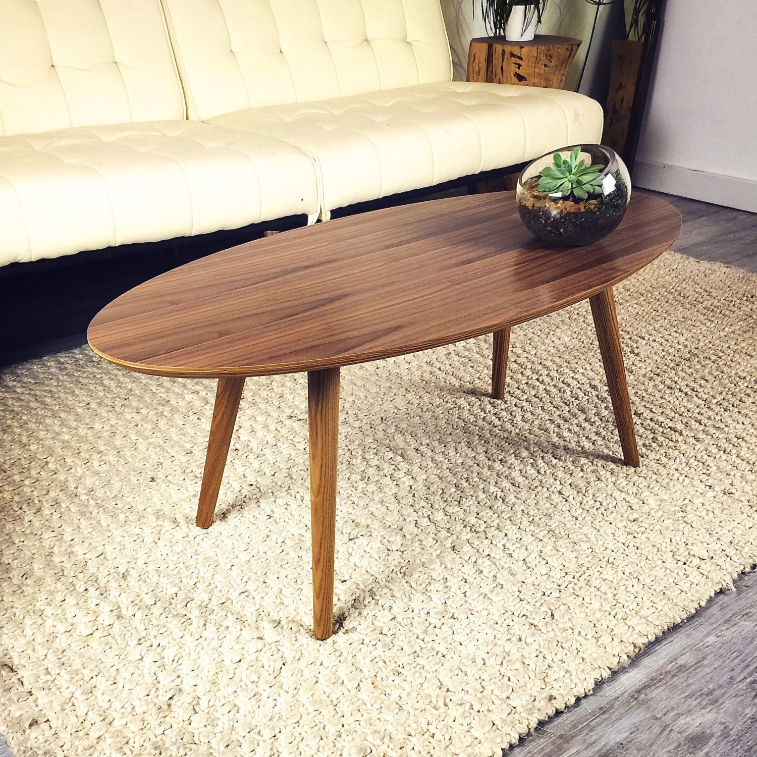 Valencia Walnut Surfboard Coffee Table By Jeremiahcollection