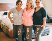 SALE! - Personalized Wedding Party Ladies' Yoga Style Sweatpants Bridesmaid Gift Bachelorette