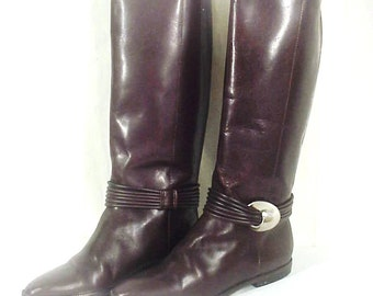SALE!! Unisa Tall Equestrian Riding Boots - Chocolate Brown Leather, Sz 6.5B, Exc Cond.