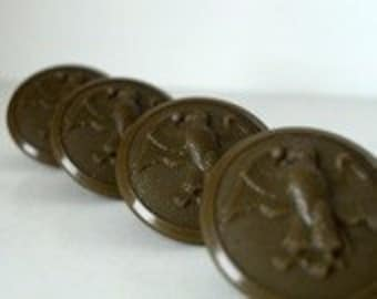 Vintage Military Buttons - Vintage Army Buttons - Vintage Navy Buttons - Eagle - Bakelite Buttons - Salvaged Lot of 4